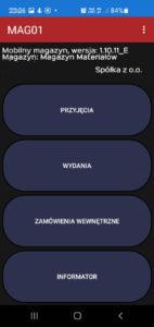 aplikacja mobilna magazyniera
